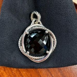 David Yurman 17mm Black Onyx Infinity Pendant